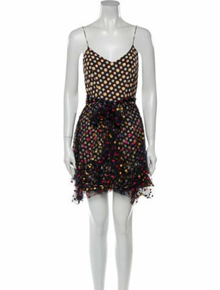 Marco De Vincenzo Polka Dot Print Mini Dress Brown