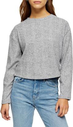 Topshop Split Back Cut & Sew Sweater