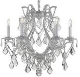 Gallery Versailles Wrought Iron Crystal Swag 6-Light Chandelier