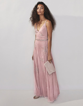 Under Armour Arabella Sustainable Star Embellished Maxi Dress Pink