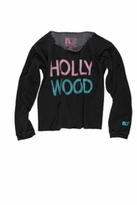 Rebel Yell Hollywood BF Cut Off Top in Black Ash