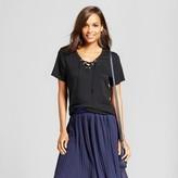 Merona Women's Short Sleeve Lace Up T-Shirt