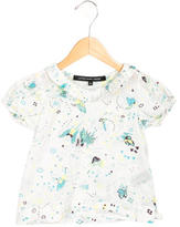 Little Marc Jacobs Girls' Printed Short Sleeve Top
