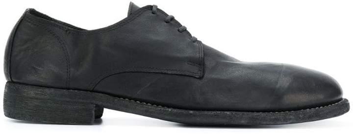 Guidi large kangaroo derby shoes