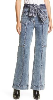 Ulla Johnson Wade Tie Waist Jeans