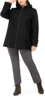 London Fog Plus Size Hooded Coat