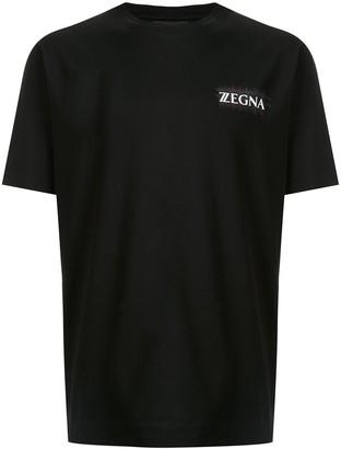 Ermenegildo Zegna crew neck logo printed T-shirt