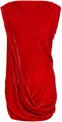 Rick Owens Belted Draped Velvet Top