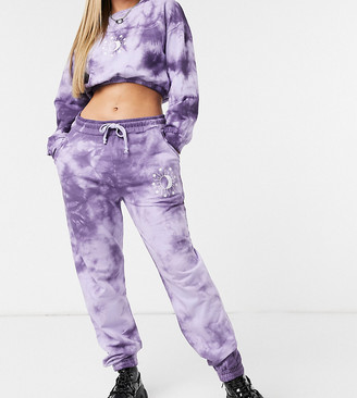 Wednesday's Girl relaxed sweatpants with celestial print co-ord