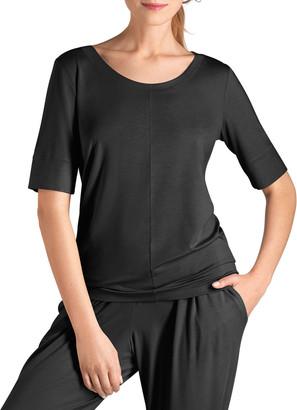 Hanro Yoga 1/2-Sleeve Jersey Lounge Top