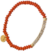 Blu Bijoux Gold Plated Crystal Tube Beaded Stretch Bracelet