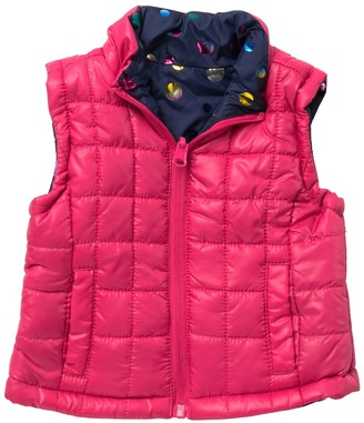 Urban Republic Reversible Quilted Puffer Vest (Baby Girls)
