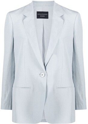 Emporio Armani Tailored Linen Blazer