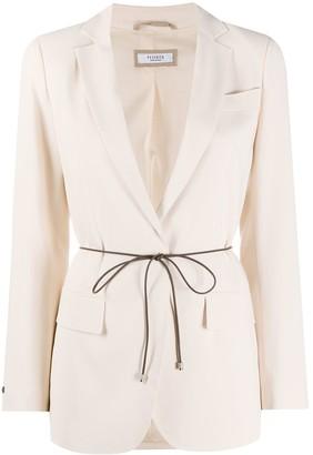 Peserico Single Breasted Tie Waist Blazer