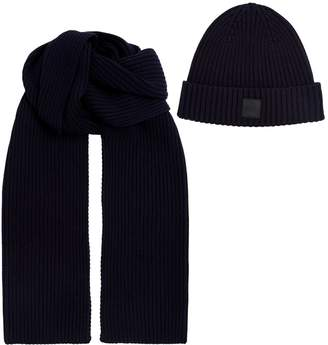 BOSS Wool-Blend Hat and Scarf Set