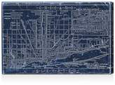 Oliver Gal Chicago Railroad Blueprint Map Wall Art, 30 x 20