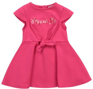 Givenchy Kids Floral Logo Tie Bow Dress (6-36 Months)