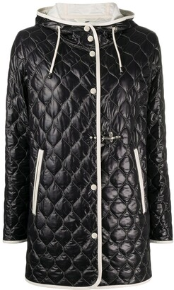 Fay Contrast-Trim Quilted Jacket