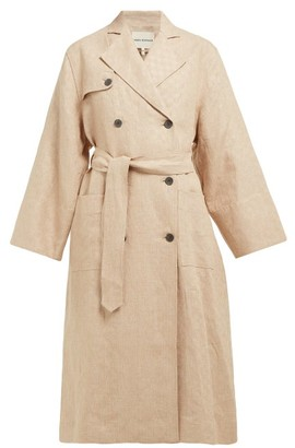Mara Hoffman Roberta Double-breasted Linen Trench Coat - Womens - Beige