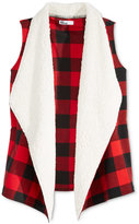 Epic Threads Girls' Faux-Fur Plaid Vest, Only at Macy's