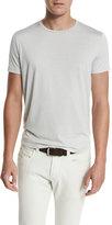 Loro Piana Silk & Cotton Jersey T-Shirt, Silver Gray
