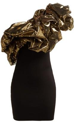 Alexandre Vauthier One-shoulder Tulle Mini Dress - Black Multi