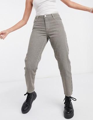 Vila cropped straight leg jeans in khaki