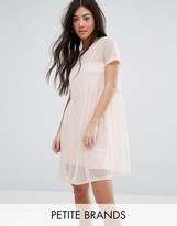 New Look Petite Smock Mesh Dress