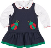Florence Eiseman French Terry Ladybug Jumper w/ Blouse, Size 12-24 Months