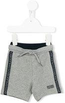Boss Kids - logo trim shorts - kids - Cotton/Spandex/Elastane - 9 mth