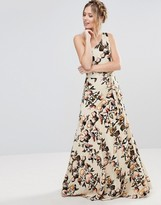 Gestuz Maxi One Shoulder Floral Dress