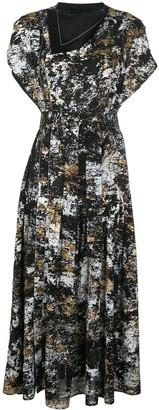 Proenza Schouler Foil Printed Long Dress