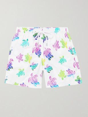 Vilebrequin Moorea Mid-Length Printed Swim Shorts - Men - White