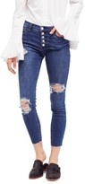Free People Women's Reagan Destroyed Crop Skinny Jeans