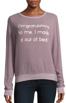 Wildfox Couture Boatneck Letter Printed Tee