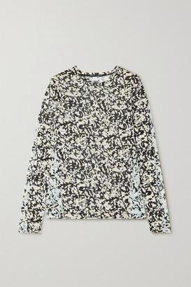 Proenza Schouler Floral-print Cotton-jersey Top - Black
