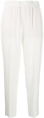 Escada Elasticated-Waist Tapered Trousers
