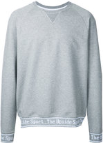 The Upside logo embroidered sweatshirt - men - Cotton/Polyester/Spandex/Elastane - L