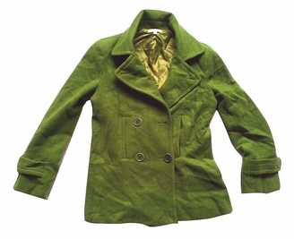 Vince Green Wool Coat for Women