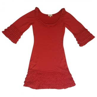 Temperley London Red Cotton Dress for Women