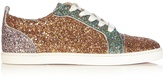 Christian Louboutin Gondoliere low-top panelled-glitter trainers