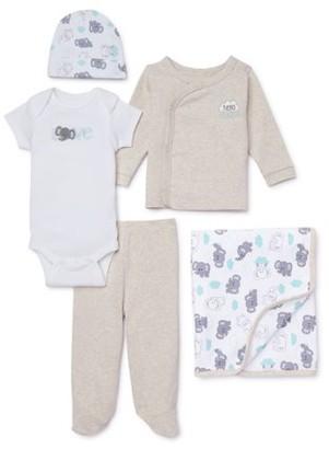 Garanimals Newborn Baby Boy or Girl Gender Neutral Clothes Shower Gift Set, 5-Piece