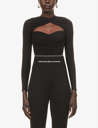 Alexander Wang Ruched stretch-cotton body