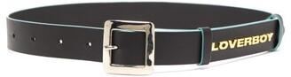 Charles Jeffrey Loverboy Logo-embellished Leather Belt - Black