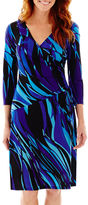 Evan Picone BLACK LABEL BY EVAN-PICONE Black Label by Evan-Picone 3/4-Sleeve Side-Tie Dress