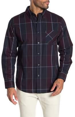 Ben Sherman Window Plaid Print Classic Fit Shirt