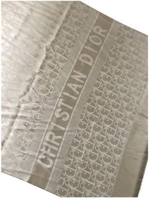 Christian Dior Gold Silk Scarves