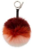 Fendi Red Fur Pompom Keychain