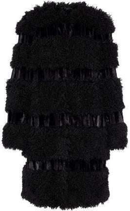 Anna Sui Paneled Faux Fur Coat