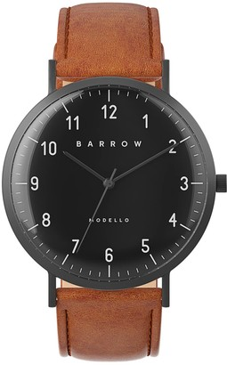 Barrow Modello Watch With Black Mesh Strap & Tan Leather Strap
